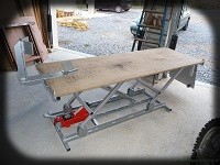 table leve moto hydraulique
